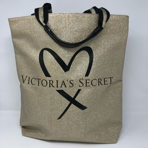 Victoria Secret Gold Metallic Tote